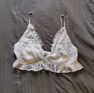 Urban Outfitters Lace Mesh Polkadot Bralette Top